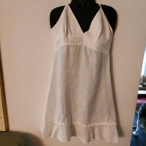 Guess Jean's White V Neck Sleeveless Dress - M